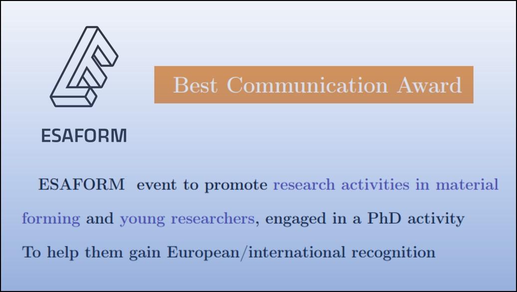 Best communication award 2021